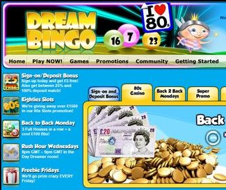 Dream Bingo is the second best site of the Microgaming network!