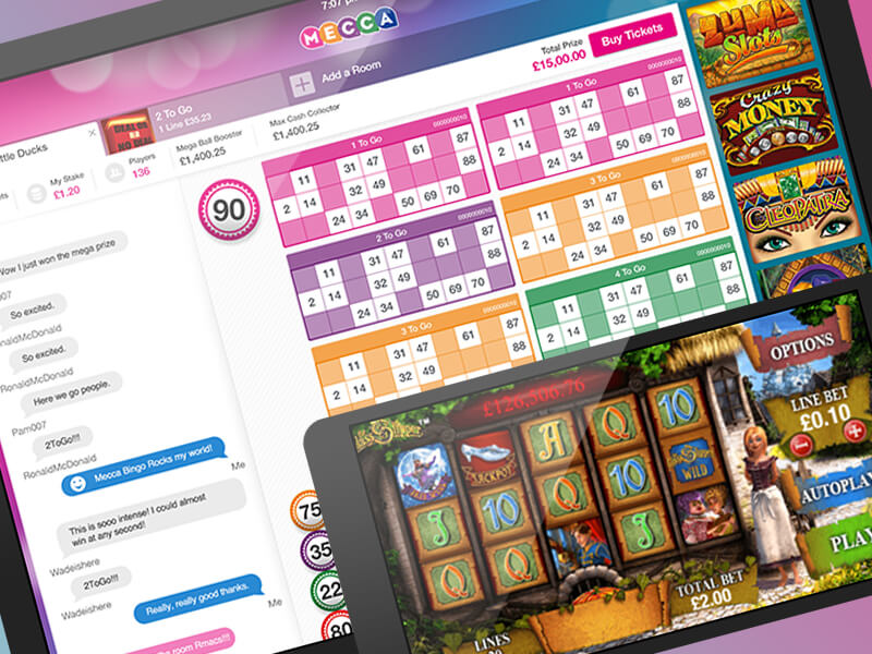 Install on your tablet the Mecca bingo application!