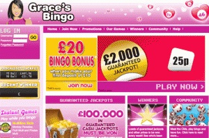 Find bonuses and surprises at Grace bingo through Cashcade!