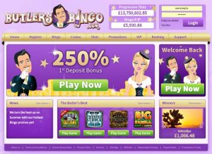 What distinguishes Butlers Bingo from other Microgaming operators?