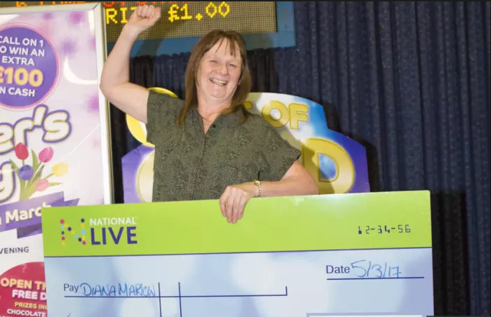 Did a chippy woman really win in the national bingo?