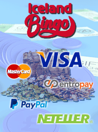 Available banking methods at Iceland Bingo