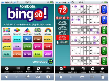 iphone bingo sites like tombola are the best