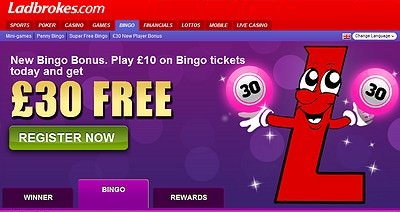 What welcome bingo bonus can Ladbrokes offer?
