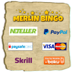 Payment methods at Merlin bingo