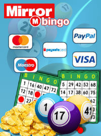 Available banking methods at Mirror Bingo