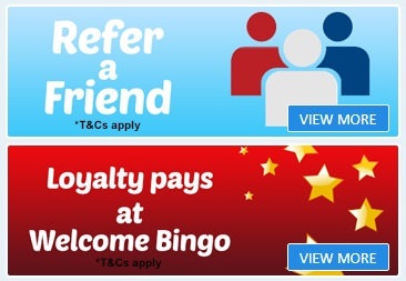 Which are the other bonuses at the Welcome bingo site?