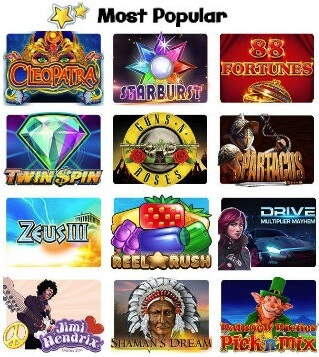 Spinzilla has a great range of games to play