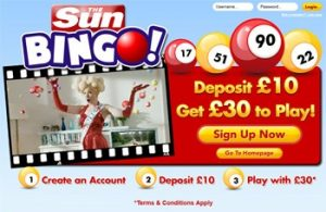 Sun bingo site was created by a popular UK newspaper!