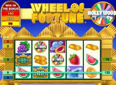 Spin slots based on TV shows like wheel of fortune!