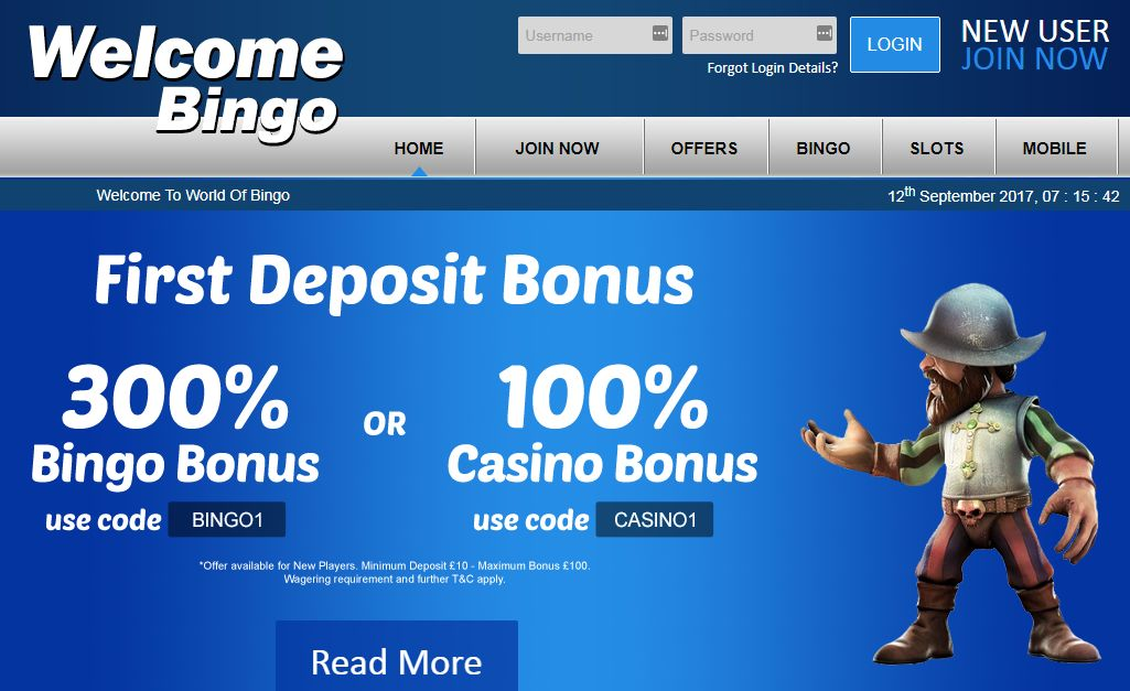 How to claim the first deposit bonus at welcome bingo?